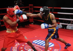 Amateurs demonstrate boxing combos for beginners